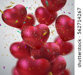 balloon hearts. vector holiday... | Shutterstock .eps vector #562714267