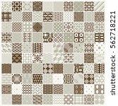 vector ornamental seamless...   Shutterstock .eps vector #562718221