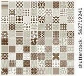 graphic ornamental tiles... | Shutterstock .eps vector #562719241