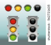 traffic lights in two modes...   Shutterstock .eps vector #562721635