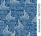 nautical pattern inspired with... | Shutterstock .eps vector #562727425
