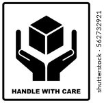 handle with care sign isolated... | Shutterstock .eps vector #562732921