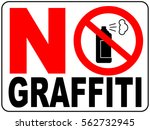 no aerosol spray sign  no... | Shutterstock .eps vector #562732945