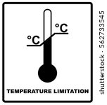 temperature limits. cargo signs.... | Shutterstock .eps vector #562733545