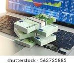 stock market online business... | Shutterstock . vector #562735885