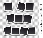 set of square frame template... | Shutterstock .eps vector #562738741