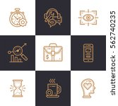 vector set of linear icons for... | Shutterstock .eps vector #562740235