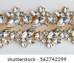 diamonds necklace a white...   Shutterstock . vector #562742299