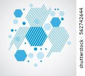vector bauhaus abstract... | Shutterstock .eps vector #562742644