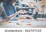 teamwork brainstorming concept... | Shutterstock . vector #562747135