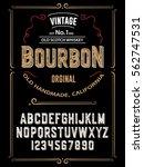 typeface.label. bourbon... | Shutterstock .eps vector #562747531