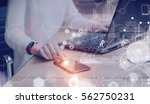 concept of digital screen... | Shutterstock . vector #562750231