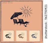 beach chair icon | Shutterstock .eps vector #562750921