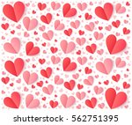 pink and red folded paper... | Shutterstock .eps vector #562751395
