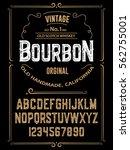 typeface. label. bourbon... | Shutterstock .eps vector #562755001