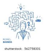 unhappy modern business man ... | Shutterstock .eps vector #562758331