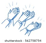 set of different clapping hands ... | Shutterstock .eps vector #562758754