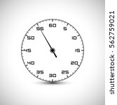 stopwatch clock icon. time... | Shutterstock .eps vector #562759021