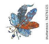 boho style decoration. free...   Shutterstock .eps vector #562761121