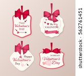 set of retro cute labels to... | Shutterstock .eps vector #562761451