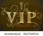 rich decorated vip membership... | Shutterstock .eps vector #562764514