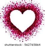 valentine's love background... | Shutterstock .eps vector #562765864