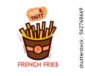 fast food vector icon. french... | Shutterstock .eps vector #562768669