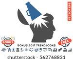 cobalt and gray open brain... | Shutterstock .eps vector #562768831