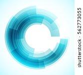 geometric frame  vector... | Shutterstock .eps vector #562773055