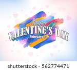 happy valentine's day postcard  ... | Shutterstock .eps vector #562774471