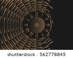 Big Ben Clock Dial On Abstract...