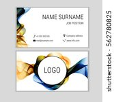 abstract business card design... | Shutterstock .eps vector #562780825