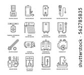 water heater  boiler ... | Shutterstock .eps vector #562785835