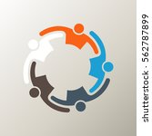 people group alliance logo.... | Shutterstock .eps vector #562787899