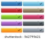 ok engraved style icons on long ... | Shutterstock .eps vector #562795621