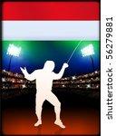 hungary fencing on stadium... | Shutterstock .eps vector #56279881