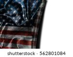 usa flag background with... | Shutterstock . vector #562801084