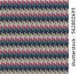 knitted vector seamless pattern ... | Shutterstock .eps vector #562802695