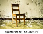 Image Of An Old Wooden Chair I...