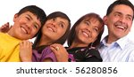 latin american family over a... | Shutterstock . vector #56280856