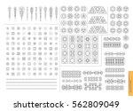 sacred geometry. set of minimal ... | Shutterstock .eps vector #562809049