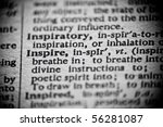 The Definition Of 'inspire' Is...