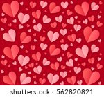 pink and red folded paper... | Shutterstock .eps vector #562820821
