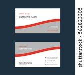 modern simple business card set ... | Shutterstock .eps vector #562823305
