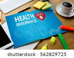 health insurance claim form  ... | Shutterstock . vector #562829725