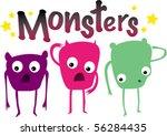 vector illustration of three... | Shutterstock .eps vector #56284435