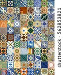 Colorful Ceramic Tiles Pattern...