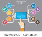infographic design with 3d... | Shutterstock .eps vector #562858381