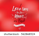 happy valentines day typography.... | Shutterstock .eps vector #562868524