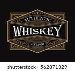 whiskey label antique frame... | Shutterstock .eps vector #562871329